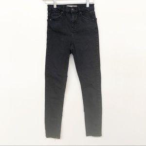 Topshop Moto Jamie Jeans Gray Black 25